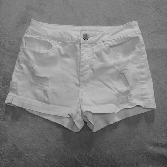 So Authentic American Heritage Shortie Short Juniors Low Rise Shorts NEW WHITE